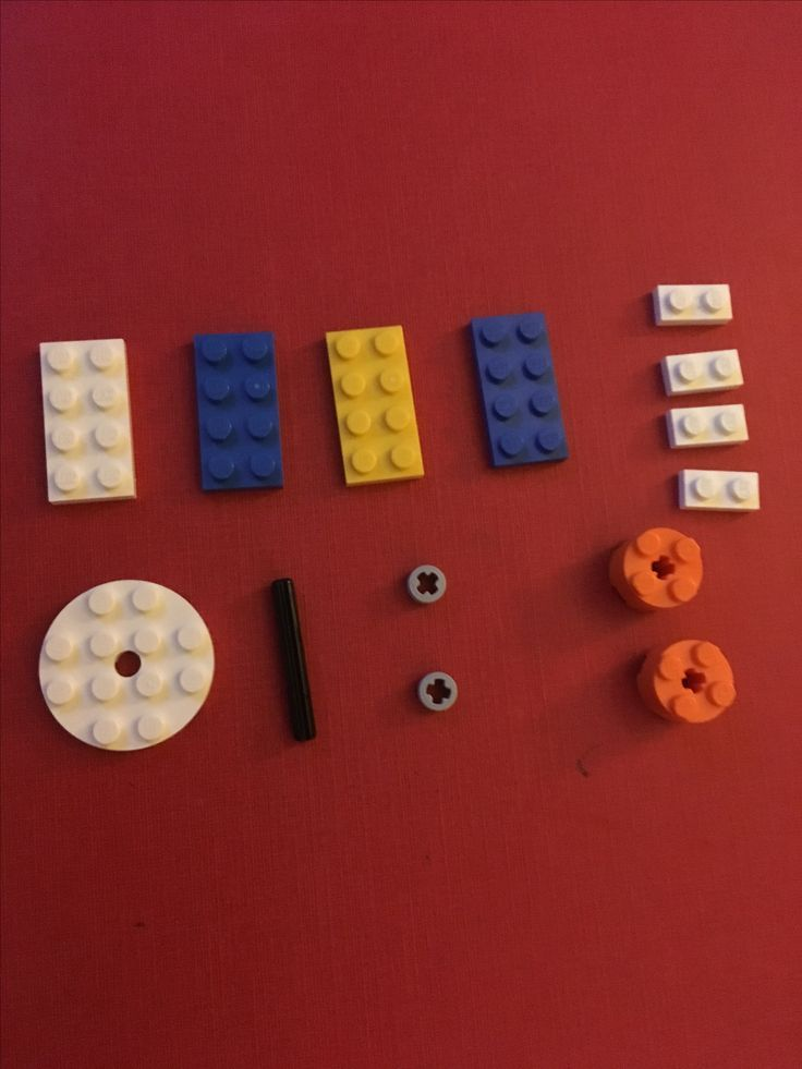 All the parts needed to make a LEGO fidget spinner