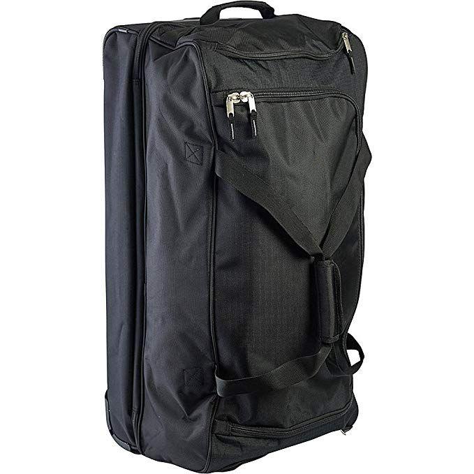 U S Polo Assn Men S 30in Deluxe Rolling Duffle Bag Split Level Storage Black Review Duffel Travel Duffel Online Bags