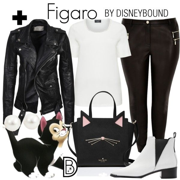 A fashion look from February 2017 by leslieakay featuring Deadwood, River Island, Acne Studios, Kate Spade, Disney, disney, disneybound, plussize and disneychar...