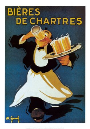 Vintage French Beer Poster