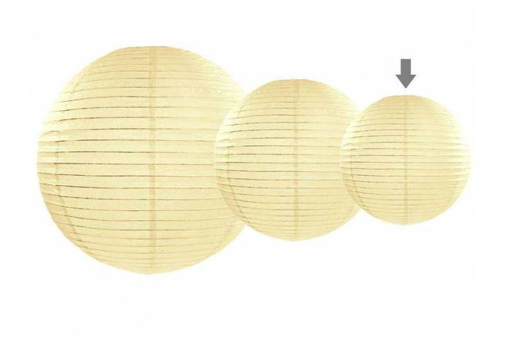 Lampion papierowy, kremowy, 20cm, 1szt / Ślub (5504279417) - Allegro.pl - Więcej niż aukcje.
