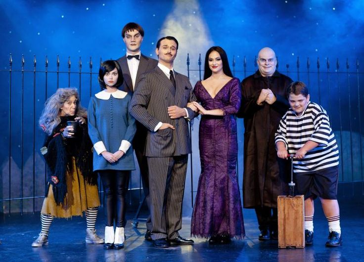 Addams Family cast from Broadway Show - Pugsley's Explosive Plunger is obviously made from a bicycle pump - Yuck!