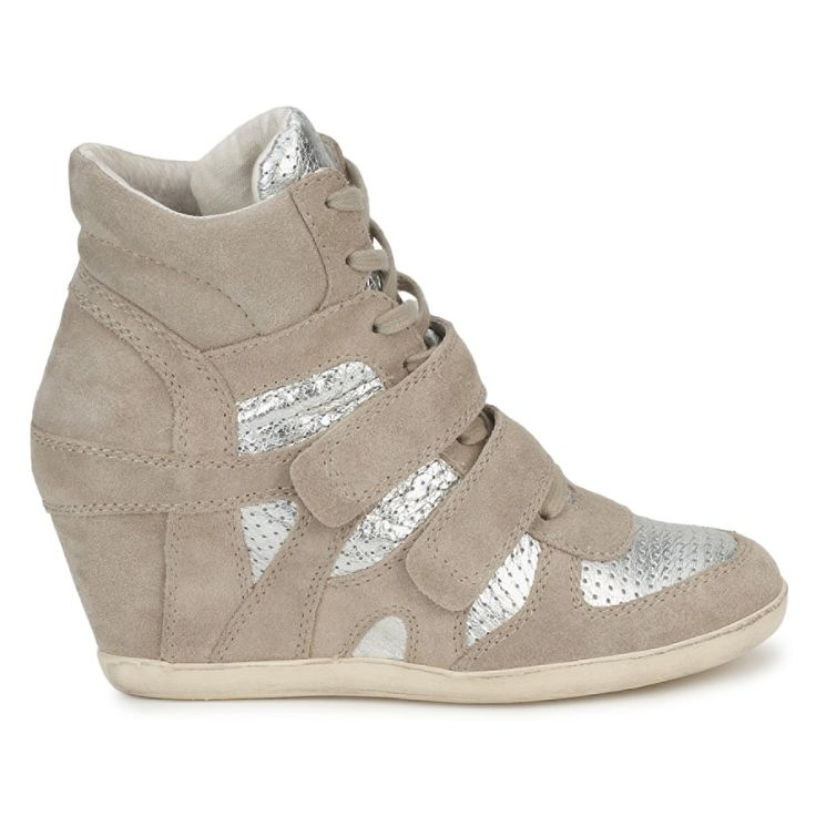 Lovely feminine colour for these Ash wedge trainers, click to buy with free delivery! #shoes #wedge #trainers #sneakers #beige #womens #fashion #trendy #uk #ashshoes