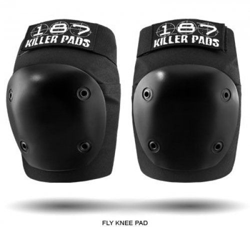 Skateboard Gear - Killer Pads Fly Knee Pads by 187 - Black - Medium by 187. $38.23. The One Eight Seven 187 Elbow pads Same expert craftsmanship as the Pro Knee Contoured shape with seamless interiors for amazing fit & comfort Quality construction and superior foam for excellent performance Thick riveted-on caps and double-stitched ballistic nylon for durability