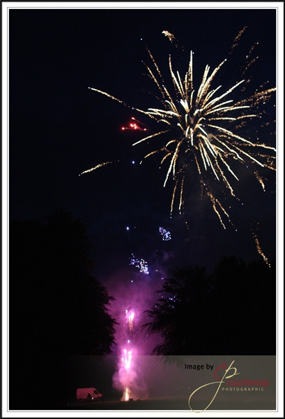 fireworks at Coombe Lodge 2011