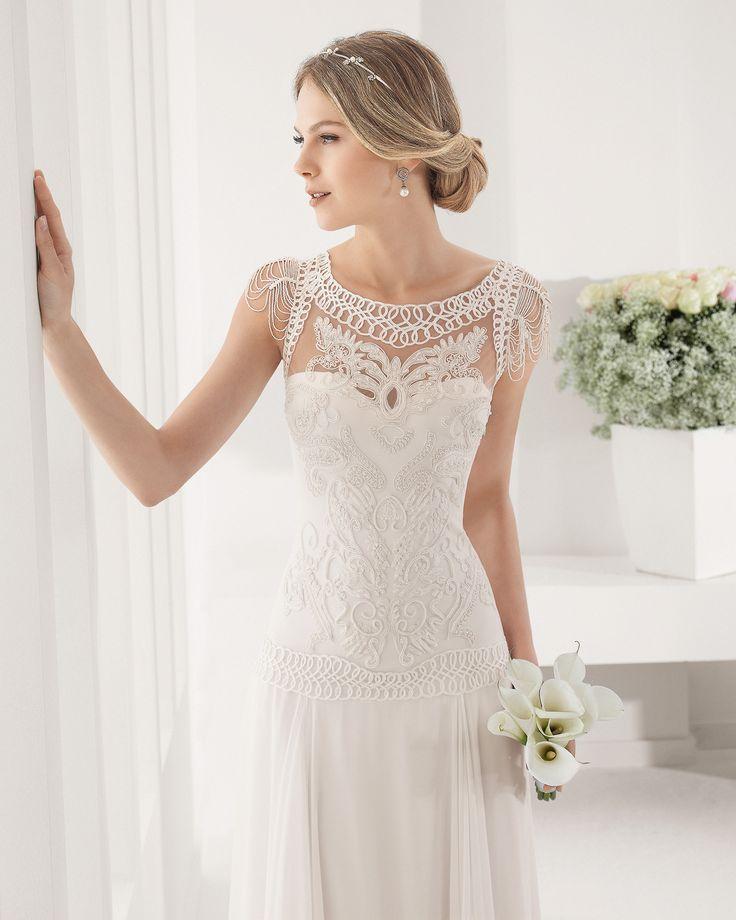 8B116 PALMER   Wedding Dresses   2015 Collection   Alma Novia (close up)