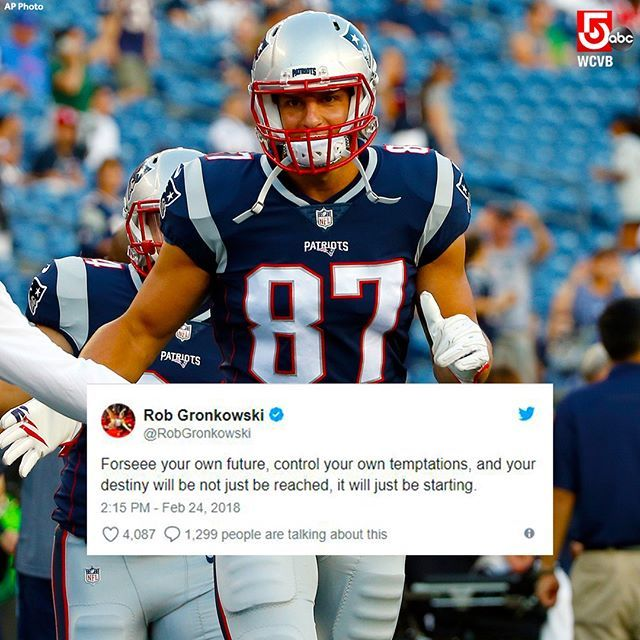 #Patriots TE Rob Gronkowski posted an interesting tweet about the future. What does it mean, Patriots nation?