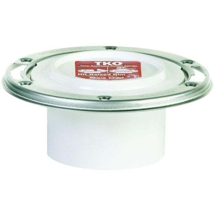 Sioux Chief TKO 3 in. x 4 in. PVC DWV Closet Flange with Adjustable Stainless Steel Swivel Ring-884-PTMPK - The Home Depot