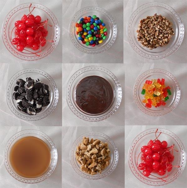 Ice Cream Sundae Bar Toppings Oscar Party 2012 Sundae Bar Ice