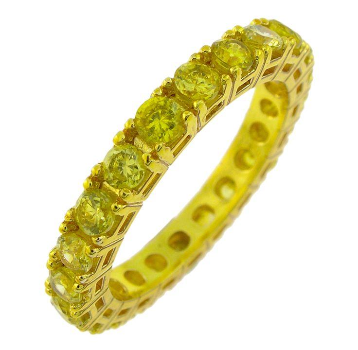 anello giallo con zirconi gialli