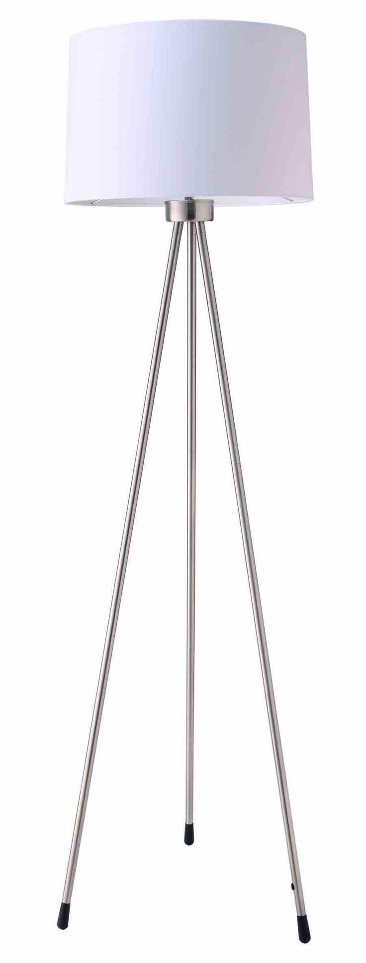 Ore International 31181IV Three Legged Floor Lamp, White - Floor Lamps Modern - AmazonSmile