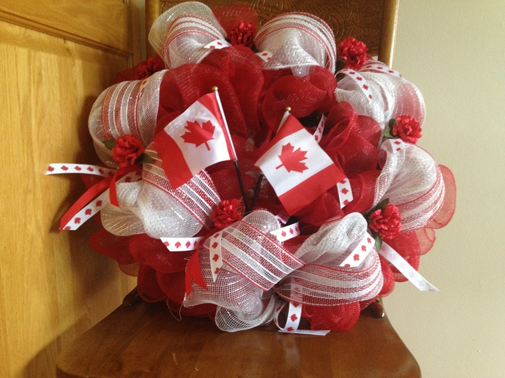 Canada Day deco mesh wreath :)