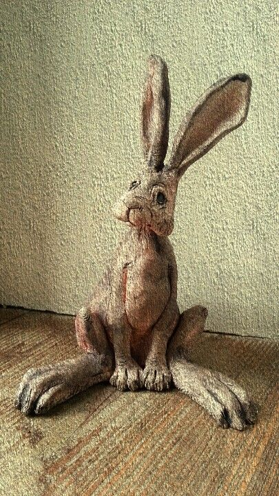 Brown hare. Hank and Kath ceramics.