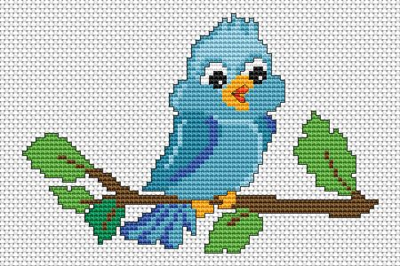 Little Bird free cross stitch pattern