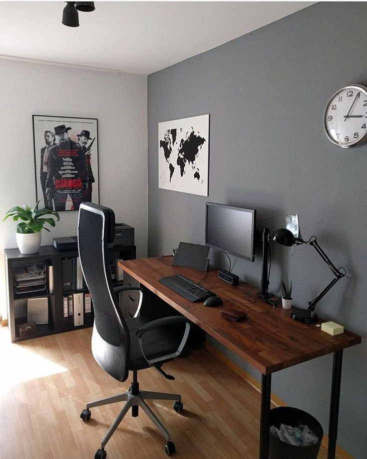 Tinta Parede Home Office Setup Office Desk Designs Home Office Design