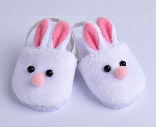 New Arrival Cute Withe Felt Slippers For 17inch Baby Dolls 43cm Born Accessories