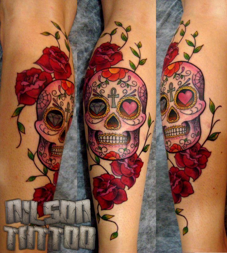 tatuagem feminina caveira mexicana - Pesquisa Google