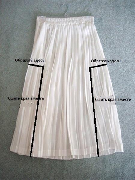 Как переделать из юбки платье