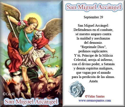 Rincón de la Oración: Estampas Oraciones de San Miguel Arcángel