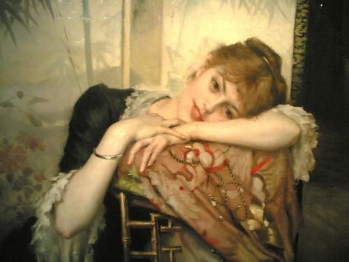 'Virginie' oil painting by Albert Edelfelt