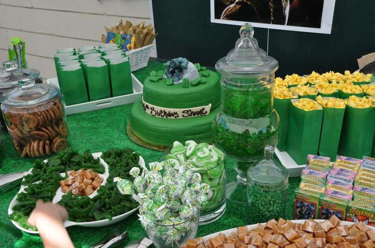 Incredible Hulk Birthday Party Ideas | Photo 14 of 47 | Catch My Party