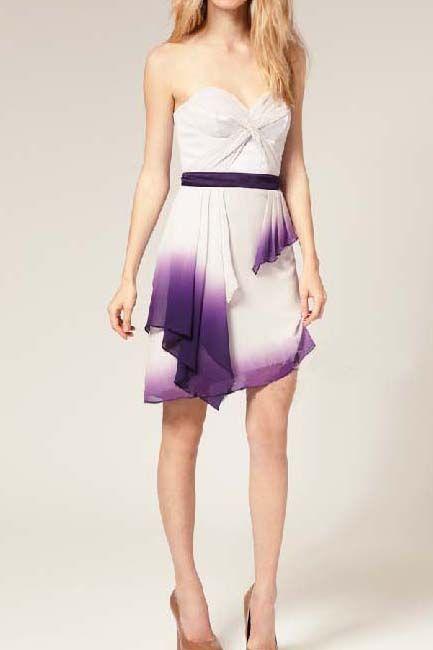 Elegant gradient purple lotus tee dress_Dresses(d)_DESIGNER_Voguec Shop