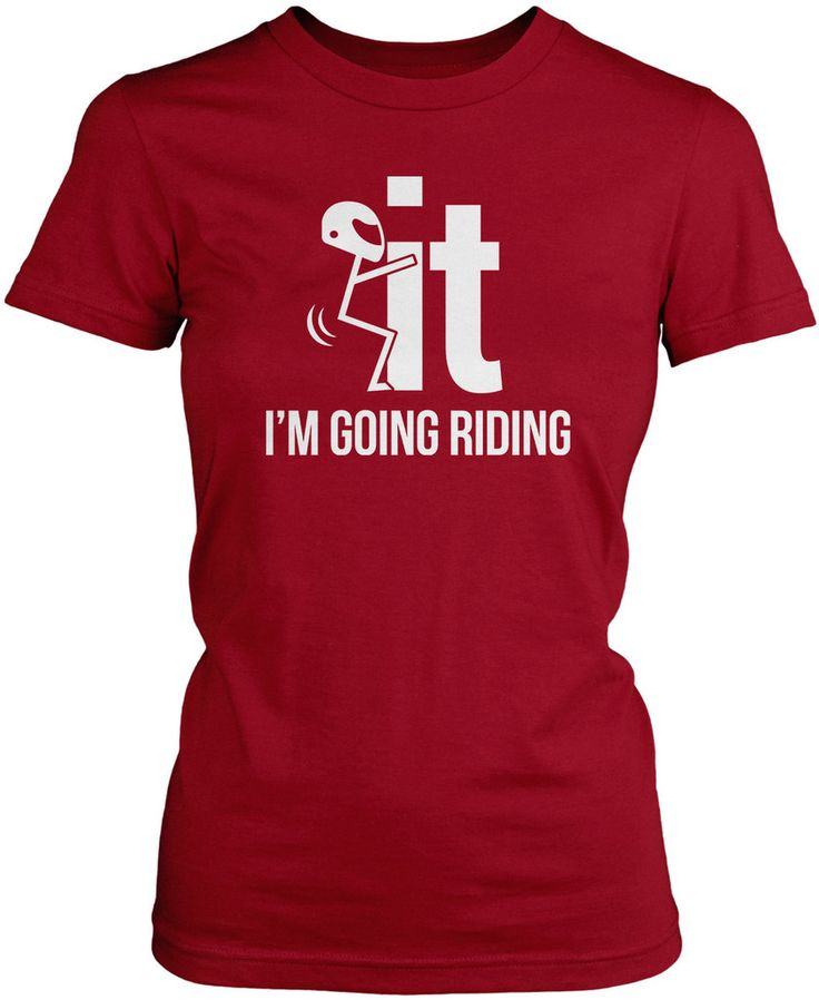 Just feel like going riding? F-It I'm Going Riding T-Shirt. The perfect t-shirt for any eager motorcycle rider! Order here - http://diversethreads.com/products/f-it-im-going-riding?variant=3897228933