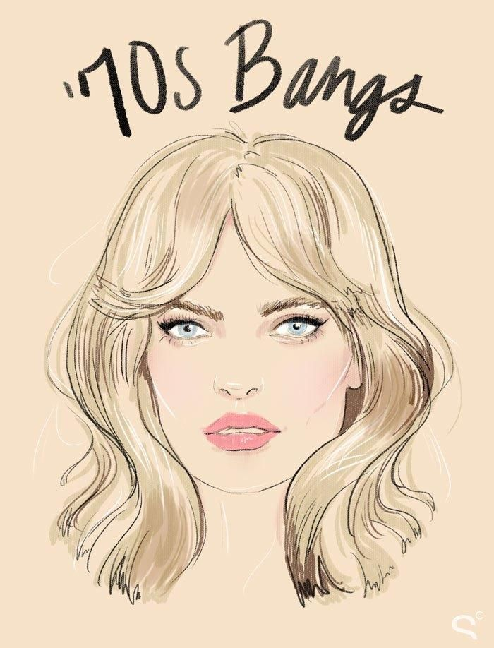 Bang Hairstyles: How the Coolest Girls Wear Bangs - '70s Bangs. They look so sweetly vintage and California-cool.