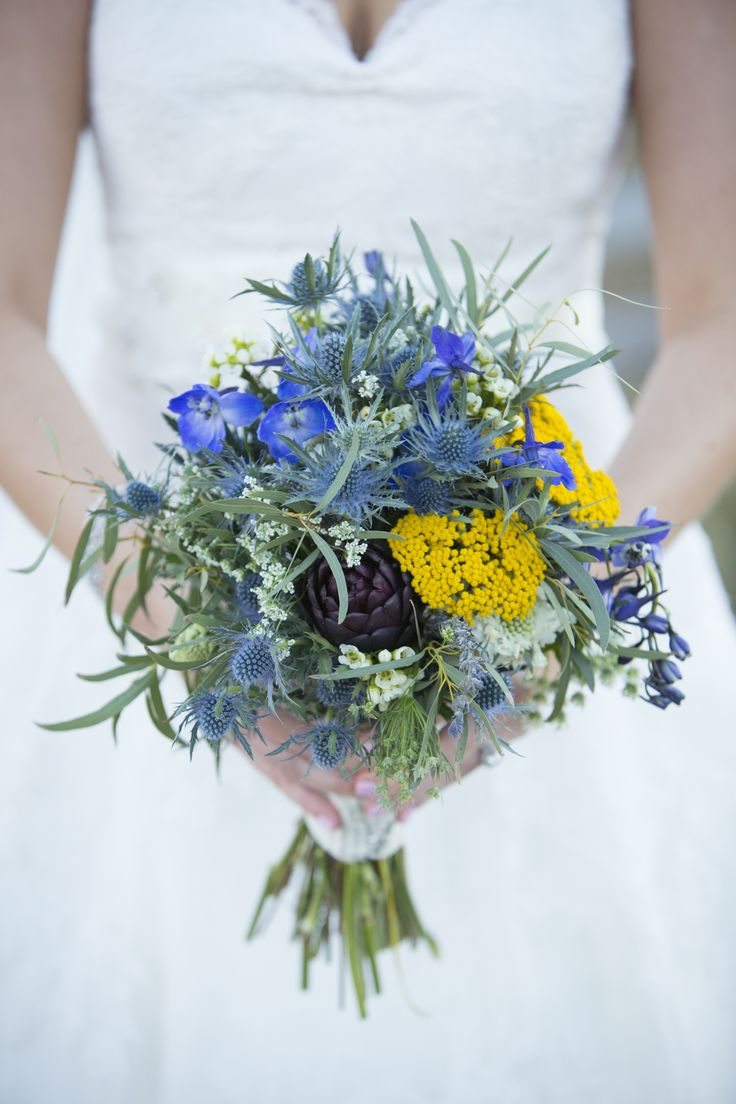 Cool blues in colorado wedding. Photography: David Lynn Photography - www.davidlynnphoto.com Read More: http://www.stylemepretty.com/2014/07/18/rustic-wedding-in-the-rocky-mountains/