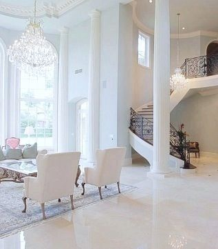 All White! White Marble Floors!