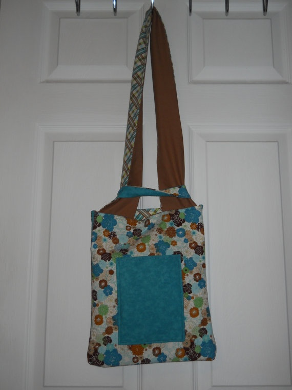 Reversible Shoulder Tote  Baltic & Bark by craftyrandi on Etsy, $24.00
