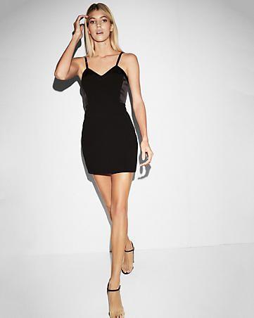 c55fbc7172 corset detailed sheath dress product image. color  PITCH BLACK