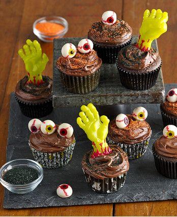 easy zombie cupcakes
