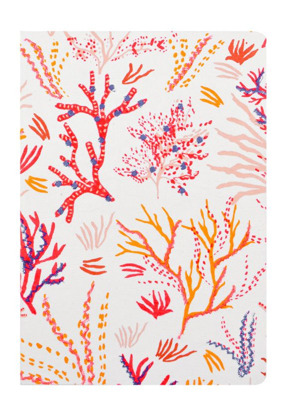 Coral Sea Embroidered Journal