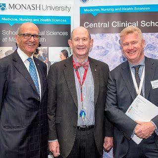 Profs Hatem Salem, Nip Thomson and Steve Jane, all of CCS, at the 30 Sep Translational Research Symposium.