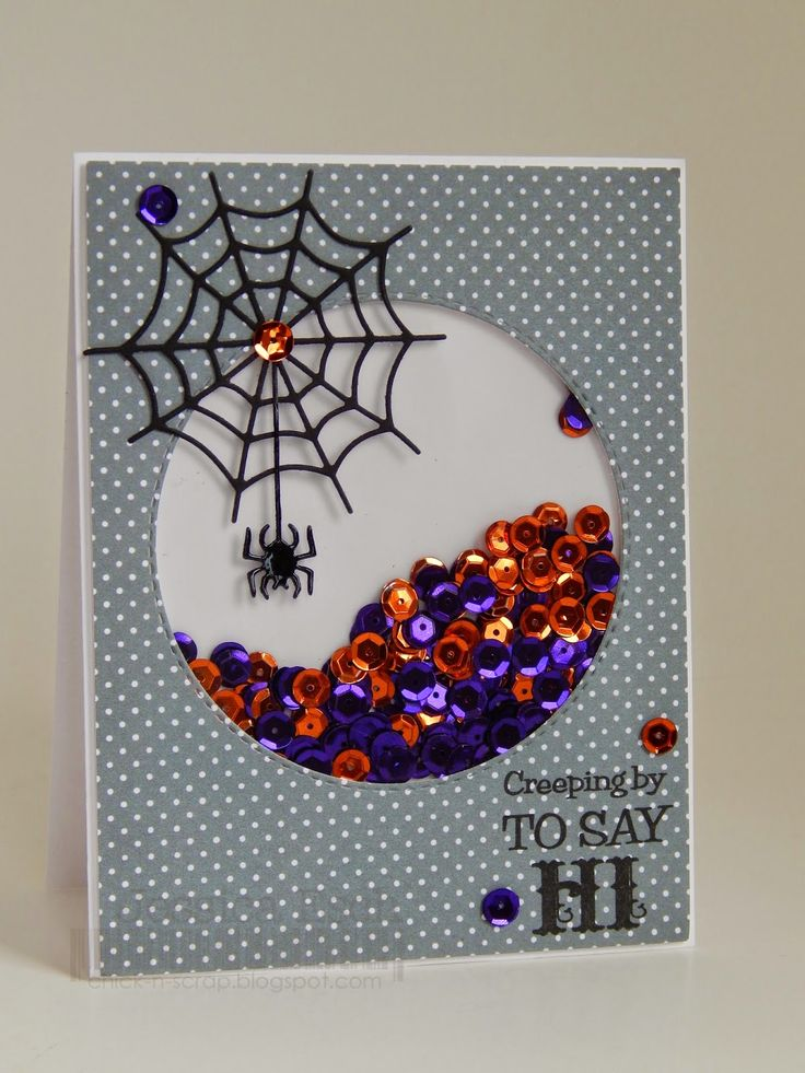 chick n scrap creeping by to say hi - What To Say In A Halloween Card