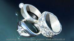 Ring maken met Art Clay Silver. Creër met gemak je eigen unieke zilveren sieraden met Art Clay Silver, zilverklei (kneedbaar zilver). In ons atelier, tijdens de creatieve vakantie Frankrijk, maar ook bij u op locatie / thuis. Zilveren hanger van Caren Simon http://www.artfriends.nl/creatieve-cursussen-en-verwen-workshops/art-clay-silver-in-beeld/