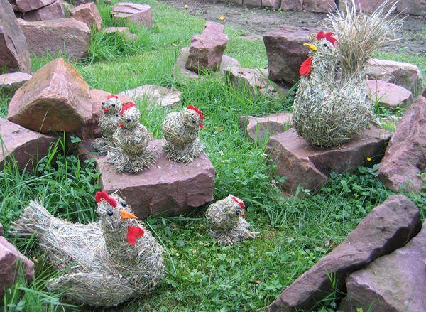 Hühner, Heufiguren