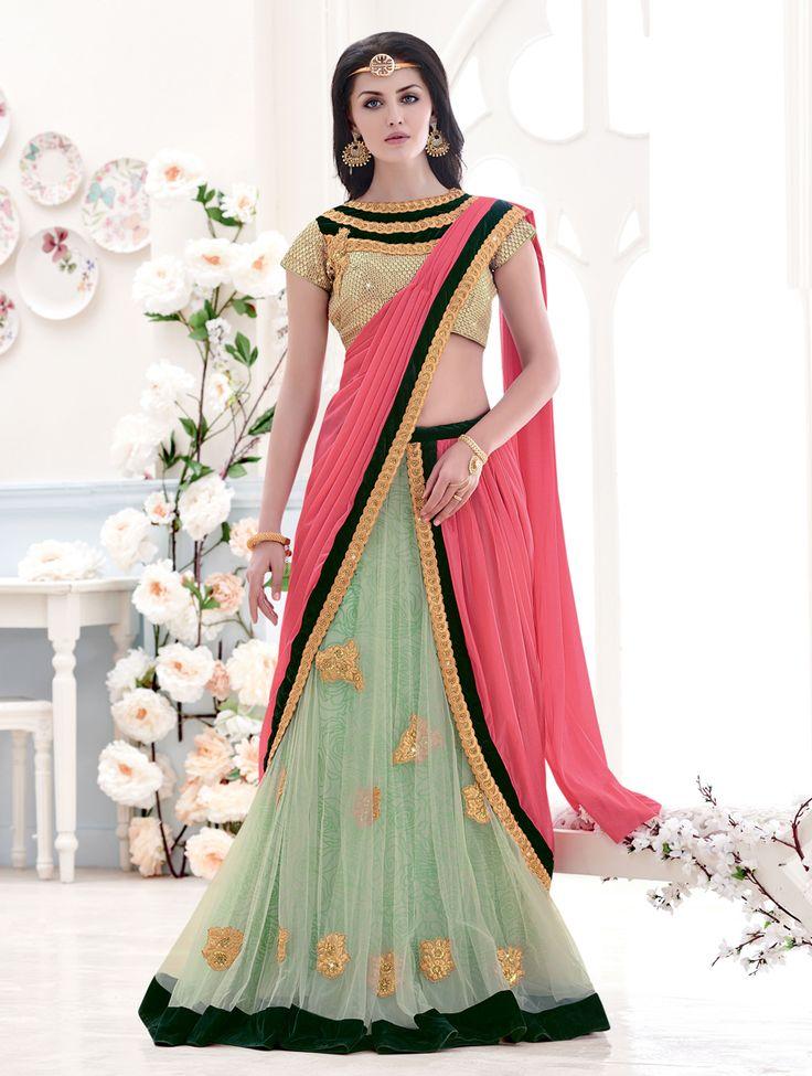 Designer Lehenga by Lushika For purchase enquires email me at info@lushika.com or whats app me on +91 9913813873. We ship WORLDWIDE. Shop Now http://goo.gl/8N6zab  #weddinglehengas #cholishopping #india #lushika #bridalwear #fashioncollection #usa #attire #style #pinkcolor #sareesonline #buylehengacholi