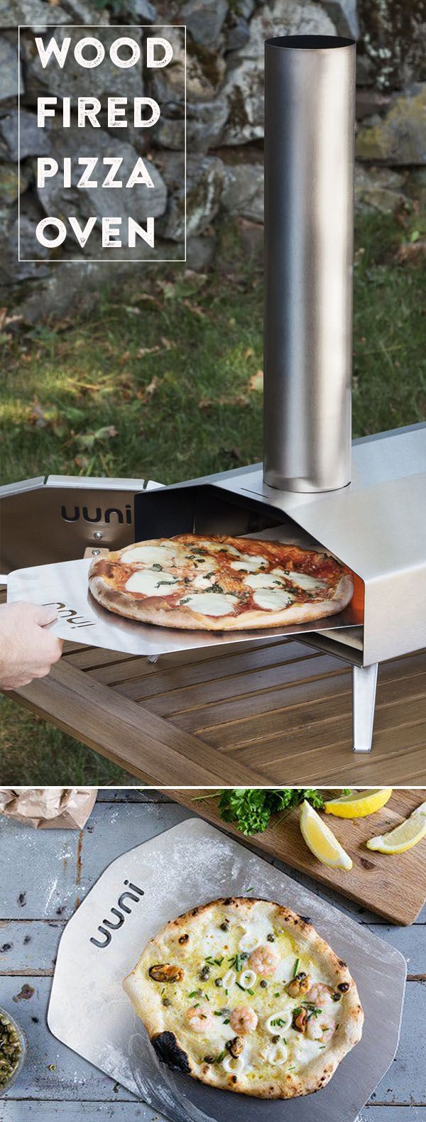 From piping hot pizzas to perfectly charred veggies and meats—this sleek oven will make it easy to wood fire like a professional. Make your own wood fired pizzas at home with this pizza oven.
