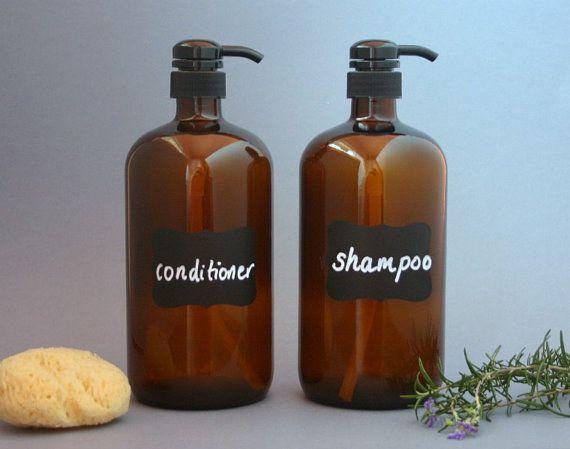 2 x 1 litre amber glass bottle soap dispenser pump by bymehome