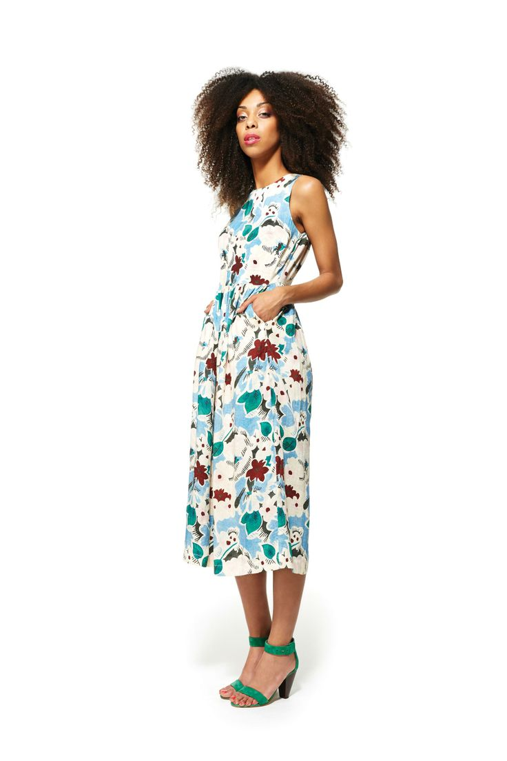 flower power dress & after the chase heel http://www.gormanshop.com.au/