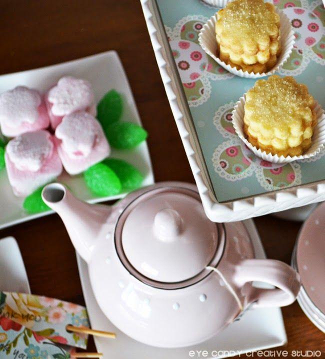 Easy Shortbread Cookie RECIPE @eyecandycreate #teaparty #mothersday #teapartyrecipe