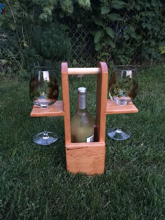 Deluxe Wine Cady by JustWoodNThings on Etsy