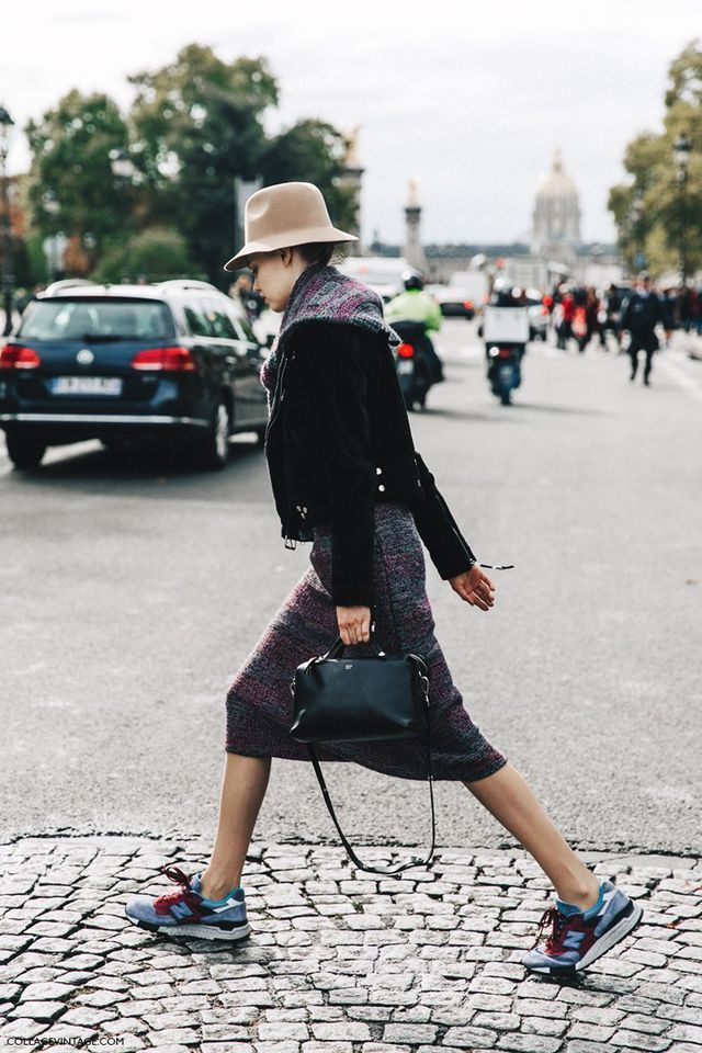 I like the jacket with a dress and sneakers idea. I don't know how I could make it work because I have no fashion skills what so ever but I would really be up for trying this!