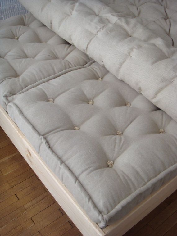 Pure Wool Mattress Twin Single Small Xl Flax Linen Covering And New Stuffing Our Products Pinterest