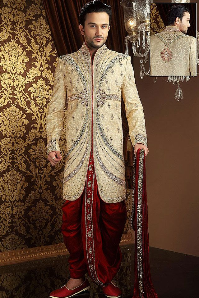 Heavy golden indowestern #embroided #sherwani To place order click on the Image OR Call us or Whatsapp us: +918968017642,+917837798330