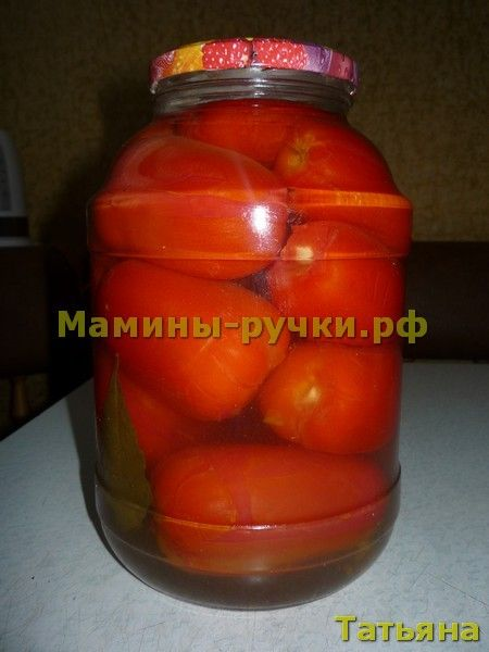 Помидоры с чесноком. Рецепт в зиму (pickled tomatoes with garlic)
