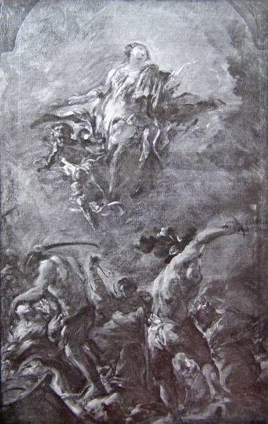 apoteoza sv. Vošily / asi 1709