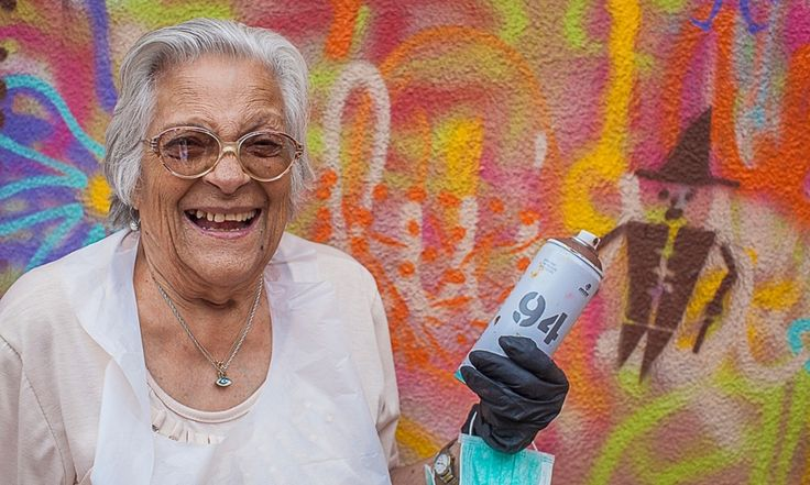 The oldest is 90, the youngest 59 – and workshops in the Portuguese capital for older people who want to make street art are proving hugely popular